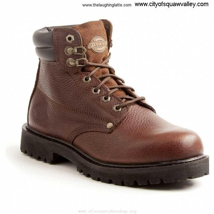 On Sale Mens Shoes Dickies Low-profile Raider 6in Soft LF610935 Leather DW7012 Brown Toe BEJKMOUWX0