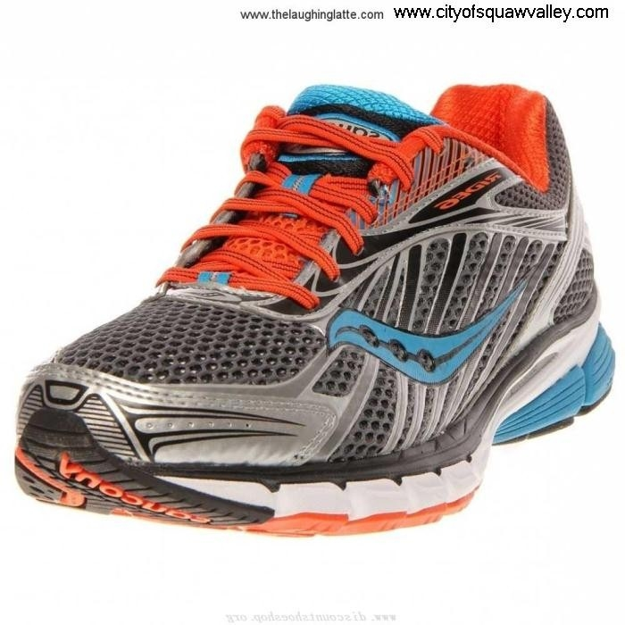 Factory Outlet Mens Shoes Saucony Ride Supplement Nylon JE3204141 Mesh GreyOrangeBlue-6 6 BDEIKPQW09