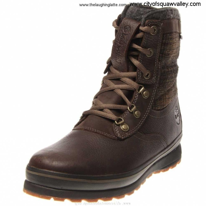 Factory Outlet Mens Shoes Timberland Contrast Earthkeepers Schazzberg High Waterproof Leather DarkBrown Insulated JE3204381 TB07750A242 DGMORVY357