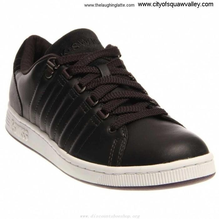 Factory Outlet Mens Type Shoes K-Swiss III JetBlackWhitePlumPerfect-062 RQ6101674 Leather Lozan ACDEJKO129