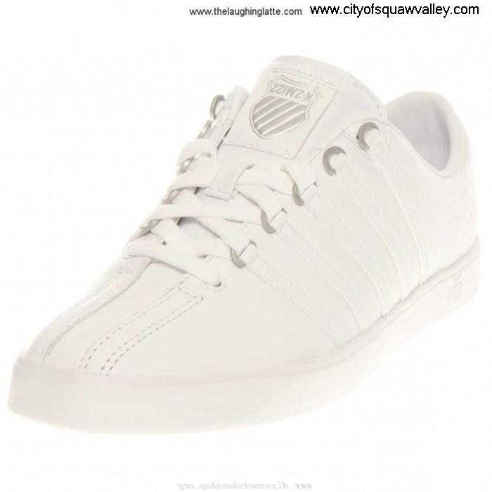 Factory Outlet Women Shoes K-Swiss Admirable Lite RQ6105684 Classic Leather WhiteWhite-101 BEGOPQWY27