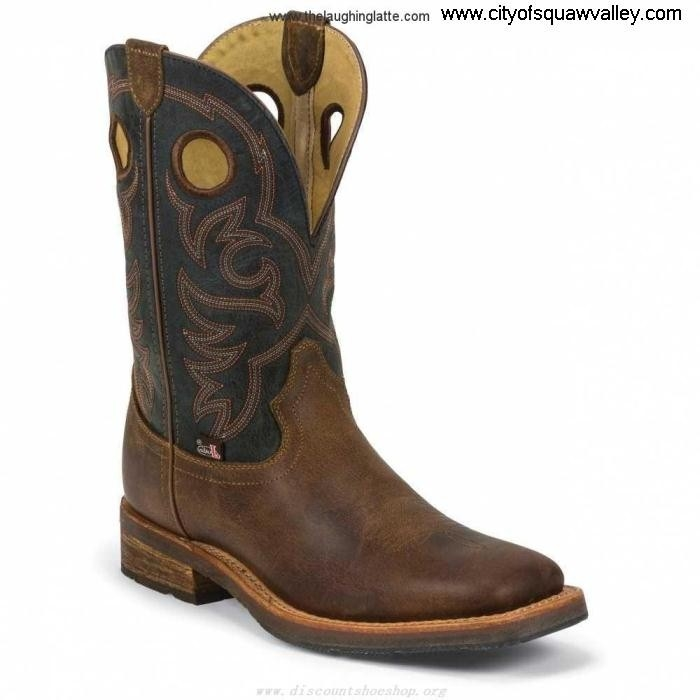 Outlet Collaboration Mens Shoes Justin Boots Rugged Leather RuggedTanRuggedTopaz VA2101512 1826 Tan CDGIQV2358
