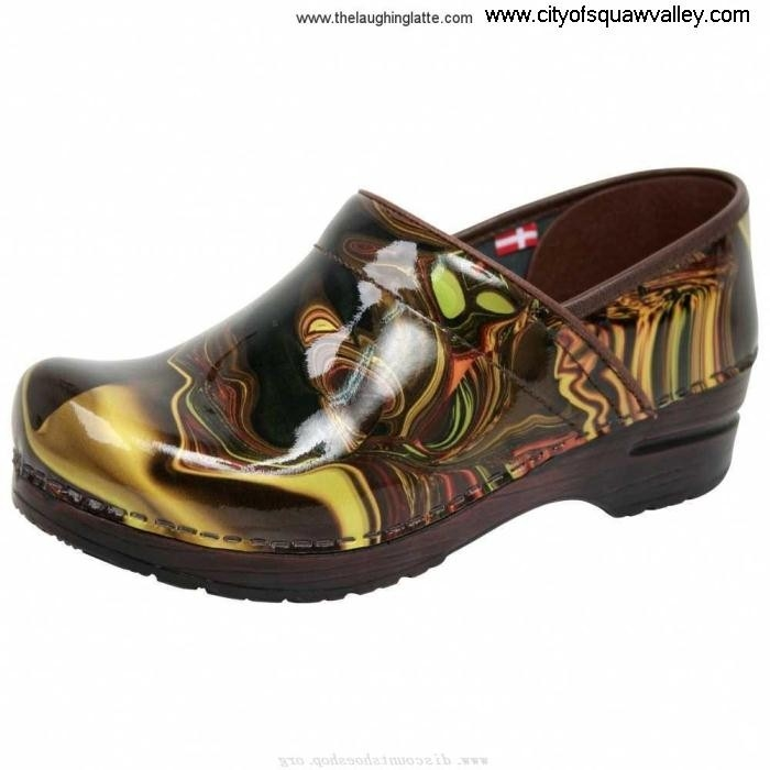 Factory Capable Outlet Women Shoes Sanita Clogs Leather JE3206851 Patent Hendrix DarkBrownPrintedPatentLeather-55 FJKLMO1234