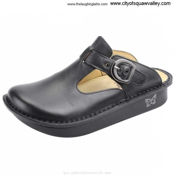 Factory Outlet Accrued Women Shoes Alegria Leather BlackNappa Classic ALG-601 RQ6105064 BKOSUX0148