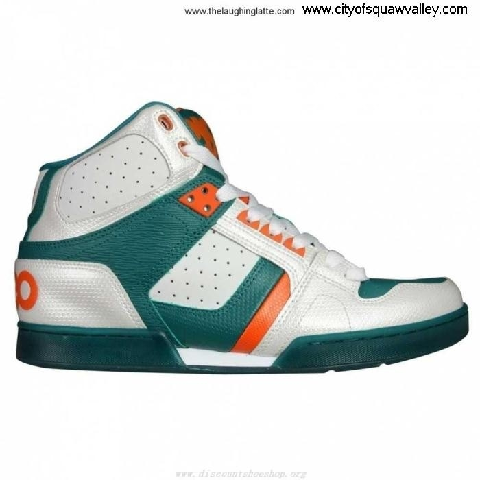 Factory Outlet Mens Feel Shoes Osiris NYC JE3203051 1130-1093 83 WhiteGreenOrange Leather AIMPQVYZ37