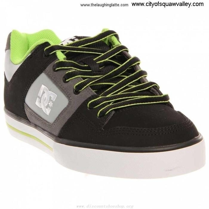 Factory Outlet Mens Shoes DC Shoes PURE M 0BL SHOE RQ610864 Suede Nifty BlackBattleshipLime-0BL IKRUVWZ278