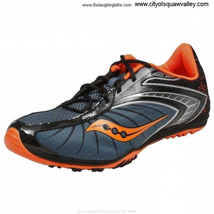 Factory Outlet Mens Shoes Saucony Shay Normal XC 2 Mesh JE3204151 Flat BlueBlackOrange-4 Nylon EHJLMUWY14
