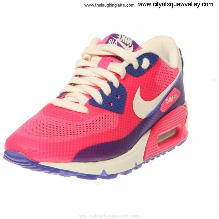 Factory Outlet Surely Women Shoes Nike Air Max 90 RQ6106034 Synthetic Premium PinkFlashHyperBlue-600 Hyperfuse BCDGILQSTY