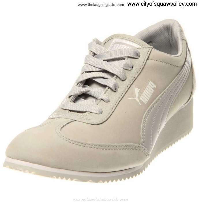 Factory Outlet Women Shoes Puma Caroline P NBK RQ6106464 GlacierGray-02 Briefing Suede FGKLMOV023
