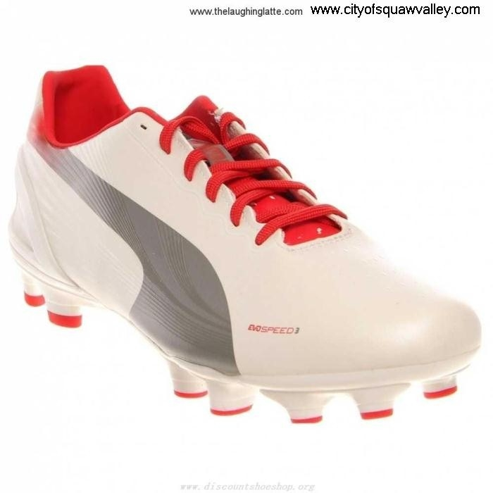 Factory Procuring Outlet Mens Shoes Puma Evospeed JE3203361 32 WhiteSilverRed-03 Synthetic Fg BFGJKMY148
