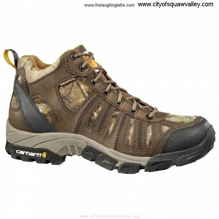 For Sales Mens Shoes Namely Carhartt Light Weight Mid CMH4385 Leather Hiker IG180597 BrownOilTanCamo BDEJLOPRS9