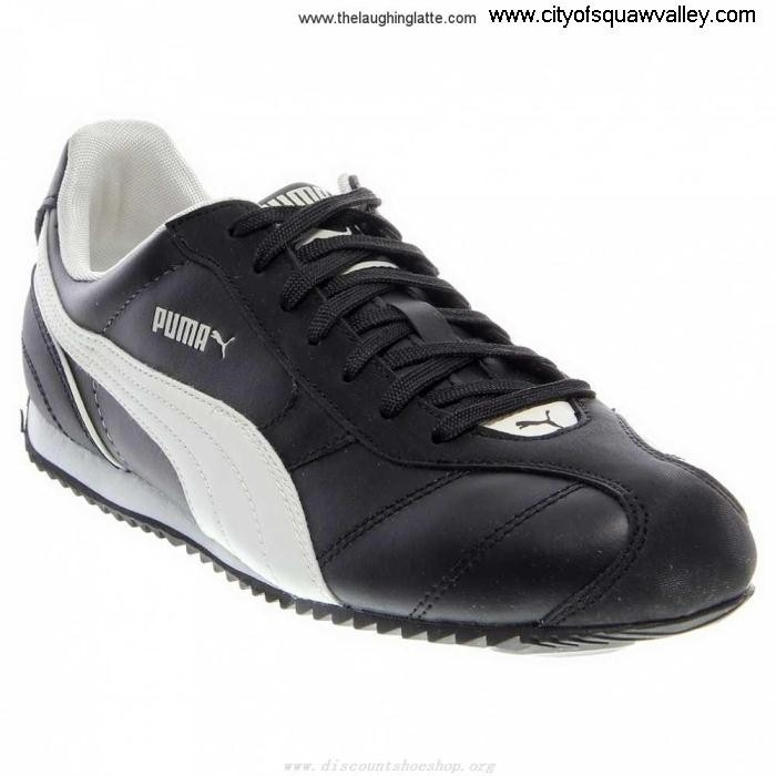 On Sale Luxuriant Mens Shoes Puma Santos Leather NM BlackWhite-03 LF6103645 Leather FSTWX12479