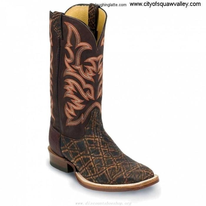 On Sale Mens Shoes Justin Boots Discover Cognac Safari Elephant LF6101455 N/A 8555 BrownCognac FJLMNOPX14