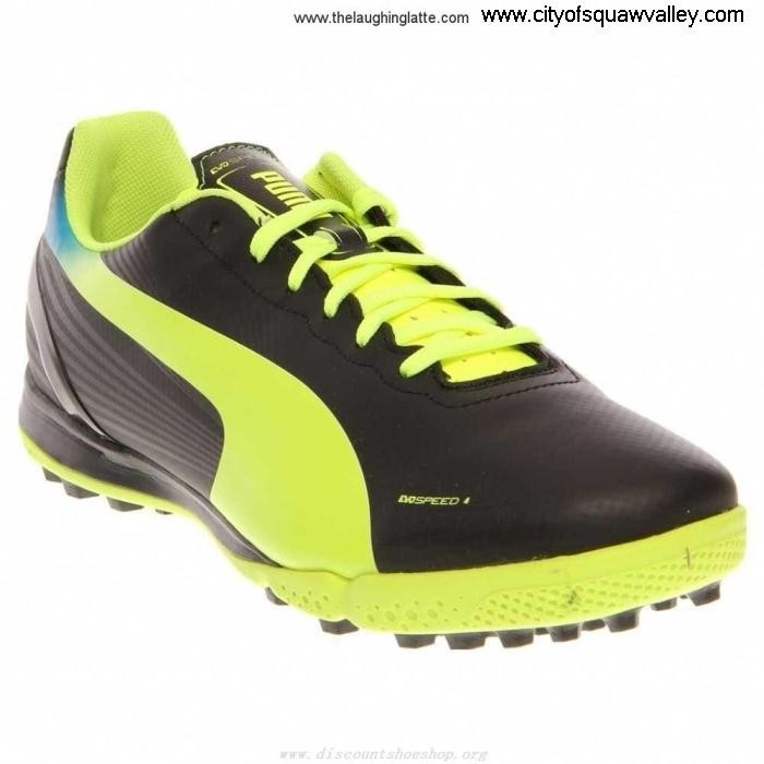 On Sale Mens Shoes Puma Evospeed 42 Tt Synthetic Worldwide LF6103385 BlackFluoYellowBrilliantBlue-01 GILMQR3579