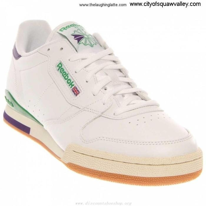On Sale Mens Shoes Reebok Leather PHASE LF6103795 Deal 1 WHITEGLENGREENGRAPESODAPAPERWHITE CJKOPRSU06