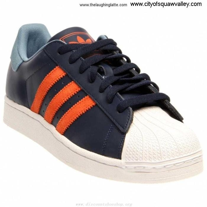 On Sale Mens Shoes adidas CollegiateNavyOrange Leather LF610185 Superstar Sole 2 HJMNORVY14