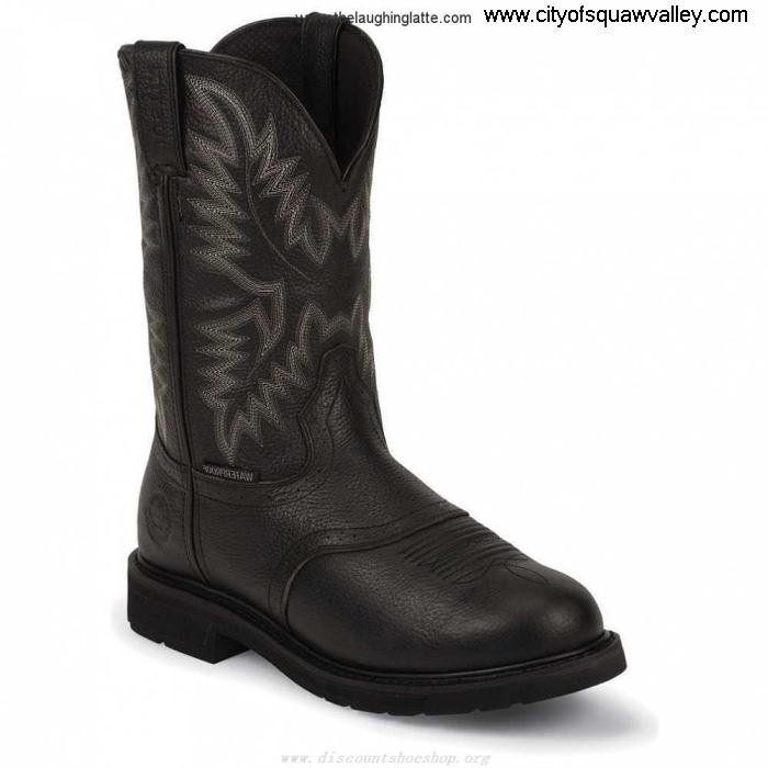 Online Mens Shoes Justin Original Work Black Oiled 11in Non-Safety Toe DL5101548 Black Expense Leather WK4691 HISTUV1236