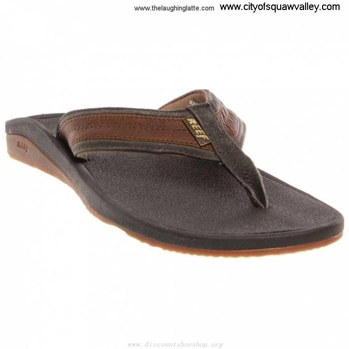 Online Mens Shoes Reef Gain Playa Leather Keimow DL5103928 RF-000292-BGU BlackGum CHMRTVZ039