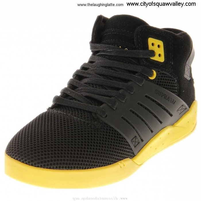 Outlet Mens True Shoes Supra Suede BlackYellow-BLK VA2104232 III Skytop ADFHIMSZ58