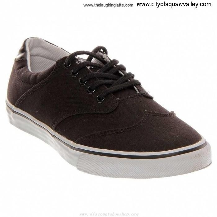 Outlet Predominant Mens Shoes Gravis Canvas Filter Black-059 Wingtip MX2001363 CDEJOWY279
