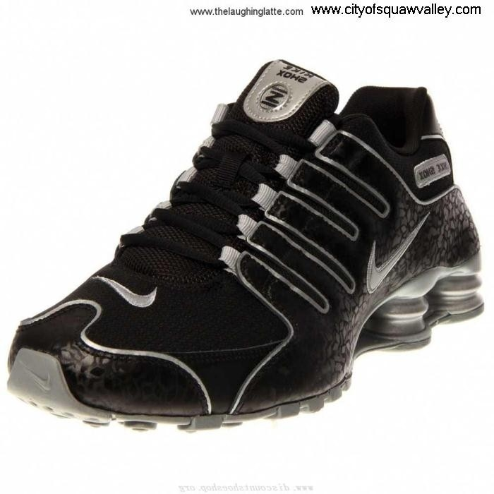 Outlet Women Shoes Nike Shox NZ Acquirable BlackMetallicSilver-005 MX2006203 EU Synthetic AKLTV06789