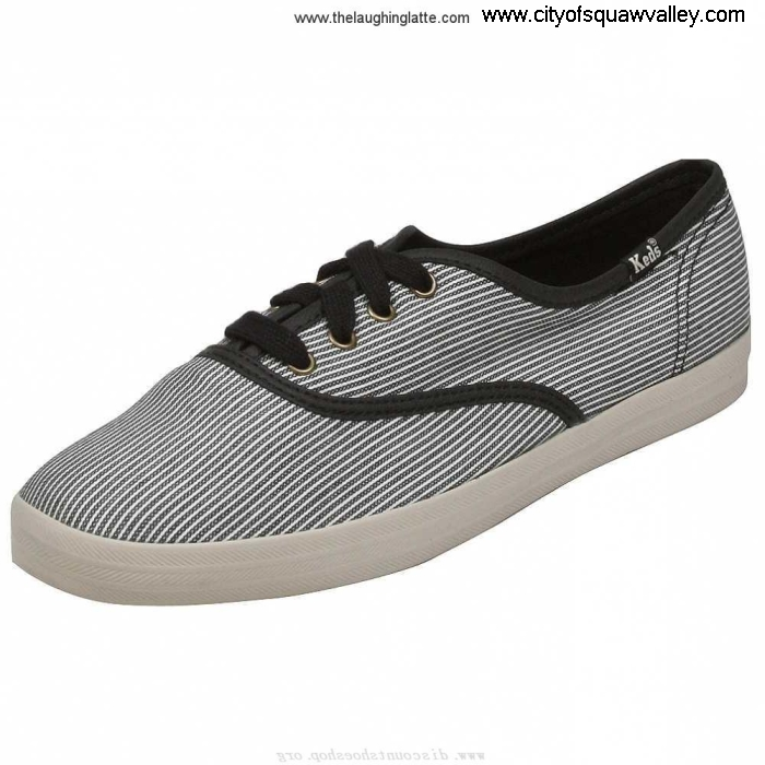 Outlet Women Strategies Shoes Keds Champion Yarn Dye MX2005743 Canvas BlackWhite Stripe WF39403 CEIJUW1349
