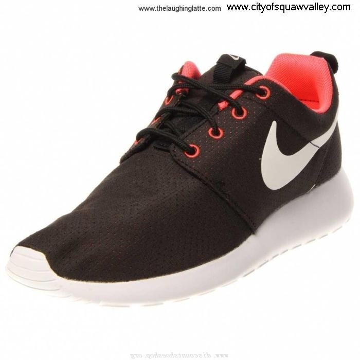 Sale Cheap Women Shoes Nike Roshe FU7106190 Nylon Run Mesh Elevate BlackHyperPunchWhite-090 ADGIKLTWZ5