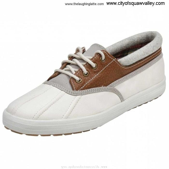 Sale Outlet Store Women Quite Shoes Keds PP2205756 Quack WF41200 OffWhiteBrown Leather BCEGLPQT02