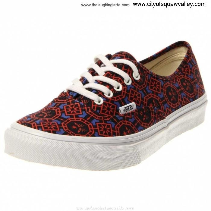 Sale Outlet Store Women Shoes Vans Authentic PP2207356 VN-0XG6DXY Level Slim Canvas GeometricDazzlingBlueWhite DFIJKOQR08