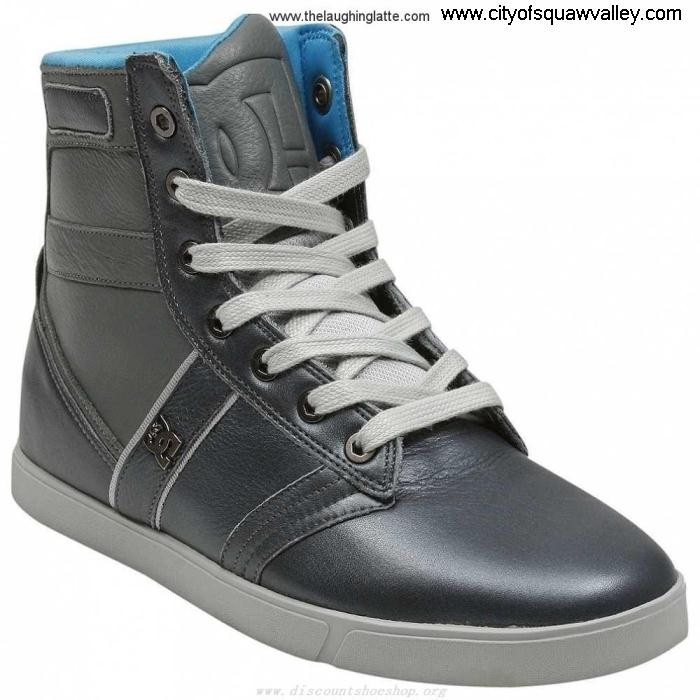 Factory Outlet Mens Shoes DC Grey-GRY Leather Exalted Shoes RQ610834 Admiral ACHIJRSW03