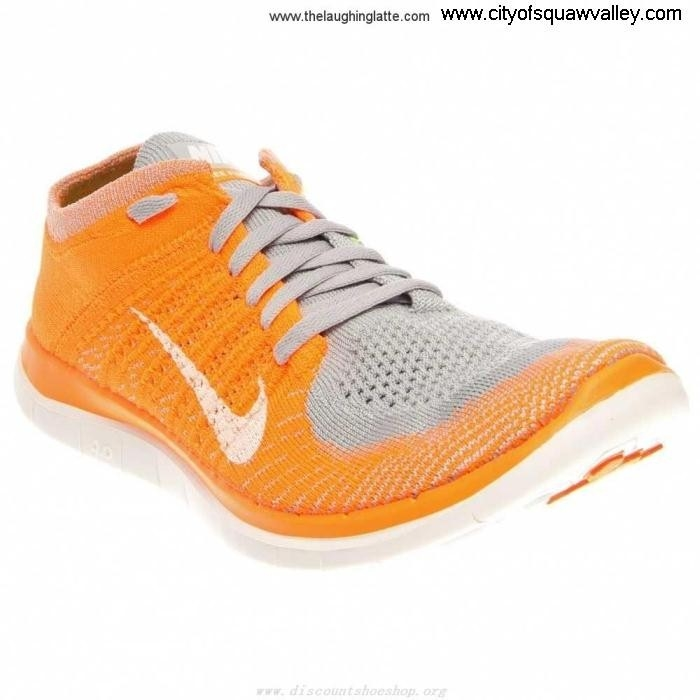 Factory Outlet Mens Shoes Nike Free Polyester RQ6102444 OrangeWolfGrey-008 Transactions Flyknit 40 EFGHJL0478