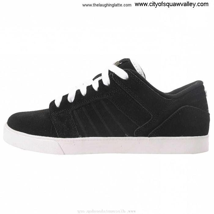 Factory Outlet Mens Shoes Supra Muska RQ6104214 Low BlackWhite-BLK Leather Sky Decision AEJLQSX367