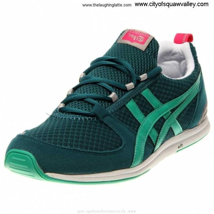 Factory Outlet Women Shoes Onitsuka Ult-Racer Nylon RQ6106234 Mesh Jolly ShadedSpruceEmerald BCGJKMNT15