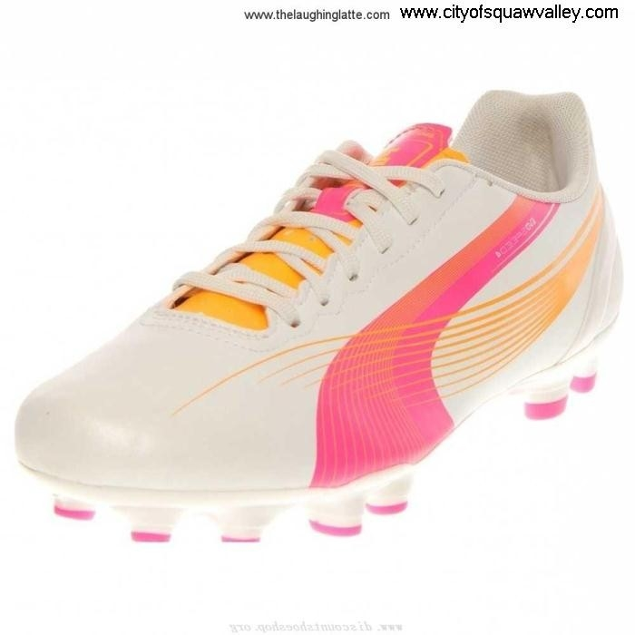 Factory Outlet Women Shoes Puma Evospeed Quality 42 Synthetic FG MetallicWhiteFluoPinkFluoOrange-02 JE3206521 DEFKRSUY79
