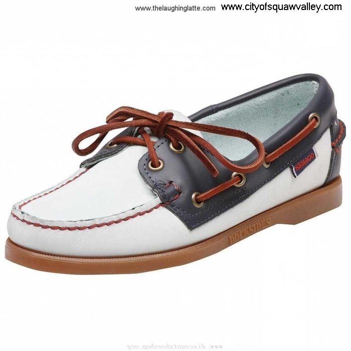 For Sales Women Shoes IG1807097 LightBlueNavyBlue Sebago Leather Gain Spinnaker AHKUW23589
