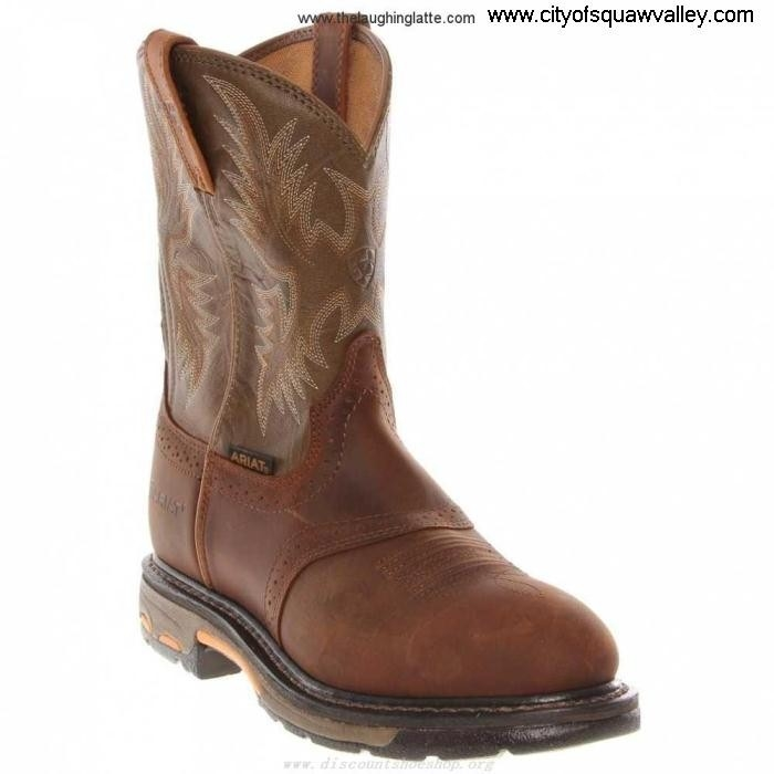 On Sale Mens Shoes Ariat WorkHog LF610375 On Hurrah BrownOliveGreen88 Leather Pull BEGILRT238