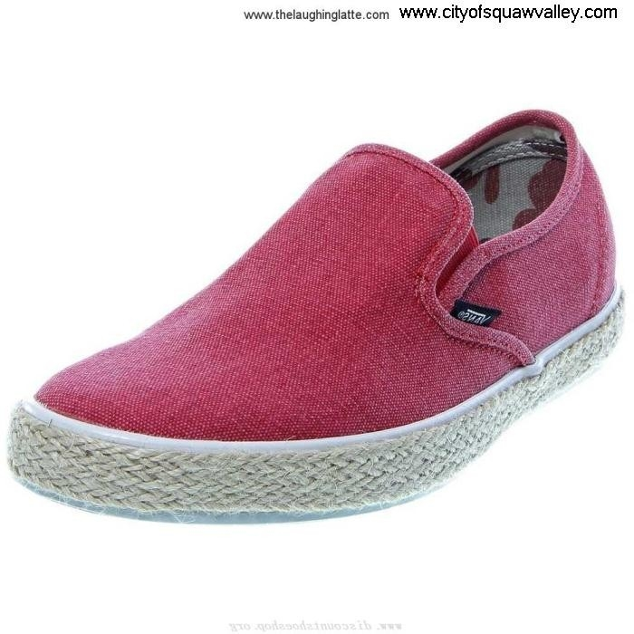 On Sale Mens Shoes Vans Perfect LP Canvas VN-0OZO6HD LF6104815 Slip-On RedTan FIMOPQWXY0