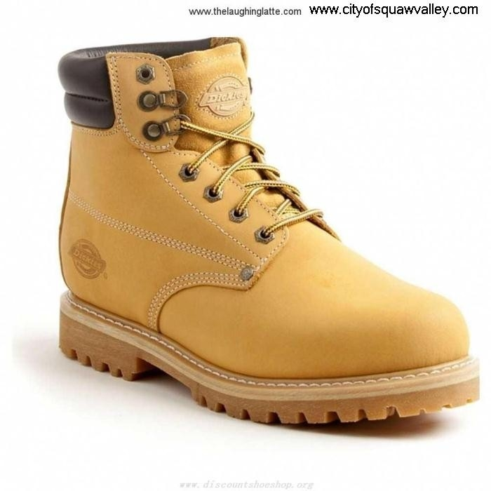 Outlet Mens Shoes Dickies Raider Steel Mustard Add Toe DW7024 MX200943 Leather BCLSVZ1248
