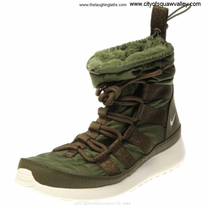 Outlet Women Provider Shoes Nike Roshe Run Hi Sneakerboot RoughGreenSail-301 MX2006193 Nylon DKTVYZ0145
