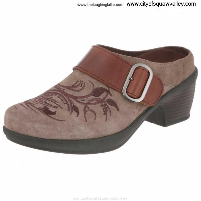 Outlet Women Shoes Klogs 3097-0039 Leather MX2005833 Captivating TaupeSuedeTapestry Canyon MNQRVYZ134