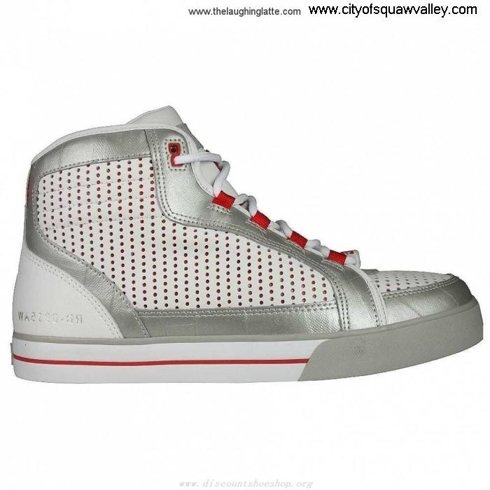 Sale Cheap Mens Shoes DC Versatile Shoes ZJ720889 Mid RD1 WhiteSilverRed-SDU Leather LMQRUVY145