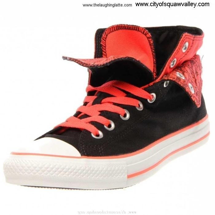 Sale Cheap Women Shoes Converse Chuck Taylor All Star FU7105390 Canvas Two Fold Expertise BlackFieryCoralF HJKNQSX014